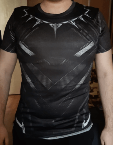 T-Shirt Compression MARVEL Black Panther photo review